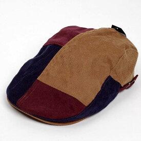 [15%OFF・セール]ハンチング帽 メンズ 秋 冬 シーズン キャメル系 ネイビー ワイン 細軸 コーデュロイ 4枚はぎ 接ぎ合わせ ハンチング キャップ 帽子 サイズ 58cm 調整可能