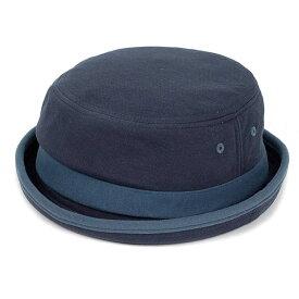 ポークパイハット メンズ レディース スウェット ブルー 青色 ハット帽子 男女兼用 帽子 58cm フリーサイズ