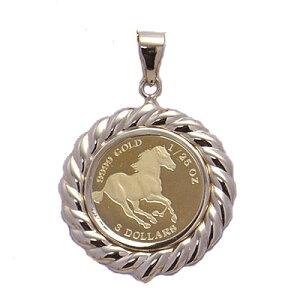 『コインネックレス』 エリザベス18金 k18 コインペンダント 18 2世 ツバル 馬 ツバルホース 金貨ペンダント 金貨 純金 コイン ペンダント メダル ゴールド おしゃれ かわいい アクセサリー 誕
