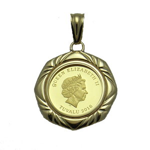 『金貨ペンダント』ツバル ホース 馬 1/10オンスコインネックレス 18 メンズ レディース コインペンダント コイン メダル エリザベス2世 純金 金 資産 ゴールド 18k k18 18金 リバーシブル ギフト