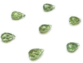 【粒販売】グリーンアパタイト ドロップカット 6〜7mm【6粒販売】
