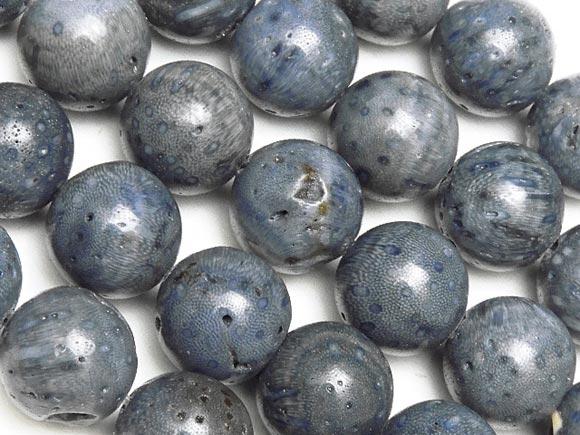 BELLPIERI▼ブルーコーラル(青珊瑚) 丸玉 10mm