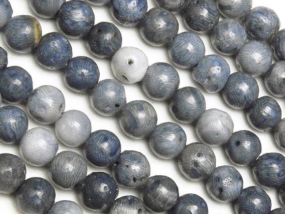 BELLPIERI▼ブルーコーラル(青珊瑚) 丸玉 4mm