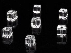 【粒販売】天然水晶 クリスタルクォーツ キューブ 4mm【20粒販売】