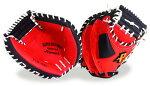 激安!Promarkプロマークの軟式野球キャッチャーミット【赤黒】左投げ左利き用もあり!野PCM-4253球用品/グローブ/