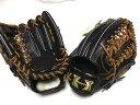送料無料 ハイゴールド ブラック 限定特注品 硬式外野手用 グローブ   学生野球 高校野球対応 野球用品 硬式野球
