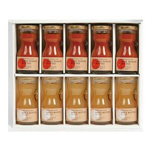 ジュース ギフト 無添加 ノースファームストック ミニトマトジュース & アップルボトル セット 80ml × 10本 送料無料 内祝い お返し お取り寄せ 詰め合わせ グルメ プレゼント 贈り物 食べ物