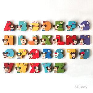 出産祝い 積み木 ディズニー Disney|KIDEA アルファベット 26文字のセット キディア 木製 送料無料 ミッキー ミニー 知育 玩具 日本製 国産 パズル ギフト セット おもちゃ おすすめ 誕生日 プレ
