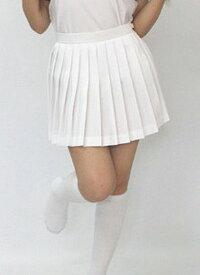 スコート テニススコート wbb-4607 テニス用 白プリーツ スコート レディース ウエスト100cm ミニ丈 無地 ボトムス 単品 ポリエステル100%