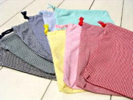 片絞り巾着袋/サイズも色も選べる3枚セット