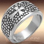 【メンズリング・男の指輪】ゴシッククロスメンズステンレスリング/指輪/316/GothicCrossRing【Crave-Loveクレィヴラブ】