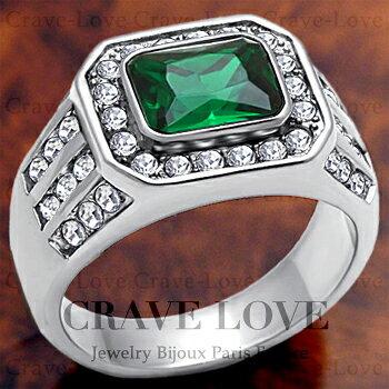 【メンズリング 男の指輪 メンズアクセサリー】豪華デザイン メンズ ステンレス リング/指輪/RM10 ボリューム感 幅広   プラチナ シルバー カラー   ファッション リング ジュエリー 大きいサイズもあります。【 Crave-Love Bijoux Paris 】