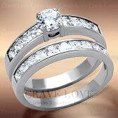 2本組重ねづけハーフエタニティステンレスリングst032連リング|女性指輪おしゃれファッションジュエリー大きいサイズもあります。トラベルジュエリー・結婚式・誕生日プレゼントにも・・【Crave-LoveJewelrybijouxParis】