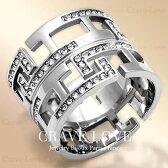 透かし模様ワイドステンレスリング/幅広/女性指輪/透かし柄透かし細工プラチナシルバー色レディースリング大きいサイズもあります。トラベルジュエリーにも・・