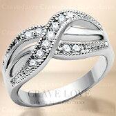 インフィニティ曲線デザインステンレスリング/指輪レディースリング【Crave-LoveJewelrybijouxParisFrance】【ビジューbijuobijoux】