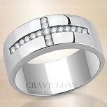 【メンズリング・男の指輪・メンズアクセサリー】おしゃれデザインクロスメンズステンレスリング指輪男性|十字CROSS|幅広|大きいサイズもあります。【Crave-Loveメンズジュエリー】