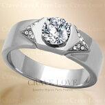 【メンズリング男の指輪メンズアクセサリー】おしゃれメンズシルバーステンレスリングRM34指輪男性人気ファッションリングキュービックジルコニア【Crave-LoveBijouxParis】