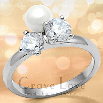 可愛らしく素敵なデザインの パール リング/真珠/指輪女性 レディース リング 大きいサイズ もあります。 【 6月誕生石 星座石 蟹座 】【 Finger Cuff フィンガー カフリング 】