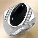 【メンズリング 男の指輪 メンズアクセサリー】ブラック オニキス シルバー ステンレス メンズ リング RM27 指輪 男性…