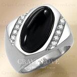 【メンズリング男の指輪メンズアクセサリー】ブラックオニキスシルバーステンレスメンズリングRM27指輪男性幅広|黒色メノウ瑪瑙ONYX|パワーストーンメンズファツションリング大きいサイズもあります。
