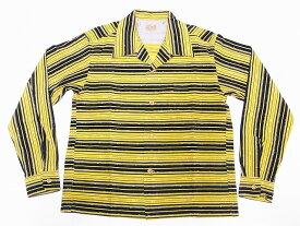 STYLE EYES[スタイルアイズ] オープンシャツ NEP & STRIPES SE28258 長袖 コーデュロイ スポーツシャツ (イエロー) 送料無料 代引き手数料無料 【RCP】