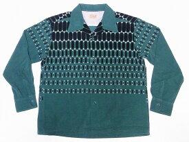 STYLE EYES[スタイルアイズ] オープンシャツ ELVIS DOTS SE28532 長袖 エルビスドット コーデュロイ スポーツシャツ (グリーン) 送料無料 代引き手数料無料 【RCP】