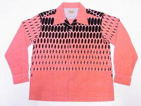 STYLE EYES[スタイルアイズ] オープンシャツ ELVIS DOTS SE28532 長袖 エルビスドット コーデュロイ スポーツシャツ (ピンク) 送料無料 代引き手数料無料 【RCP】