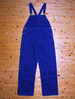 HEADLIGHT [headlight] overalls Wabash stripe 9 oz. WABASH STRIPE BIB OVERALLS HD41125A (NAVY)