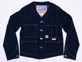 车灯工程师夹克牛仔工作夹克 HD13018A 11 盎司牛仔布工程师夹克 (海军) 现金交货费