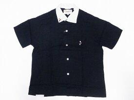 King Louie[キングルイ] ボウリングシャツ イタリアンカラーシャツ KL38136 ITALIAN COLLAR SHIRT ツートーン ボーリングシャツ 60's STYLE (ブラック) 送料無料 代引き手数料無料 【RCP】
