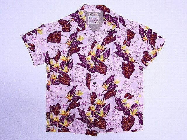 "SUN SURF[サンサーフ] アロハシャツ KEONI OF HAWAII ""Na Leo Mele"" SS35445 (PINK) 送料無料【smtb-kd】"