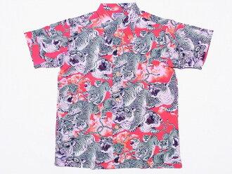 太阳冲浪 [San 冲浪,夏威夷衬衫 100 老虎特别版一百年老虎日本模式 SS36986 (红色) COD 费