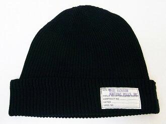 嗡嗡声位 [适当] 卡蒙盖棉针织帽 BR02186 手表帽棉版本 (黑色)