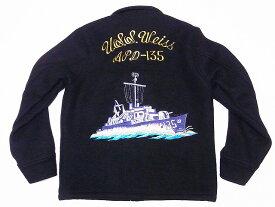 Buzz Rickson's[バズリクソンズ] ツアージャケット ウール BR13864 USS Weiss WOOL TOUR JACKET (ブラック) 送料無料 代引き手数料無料