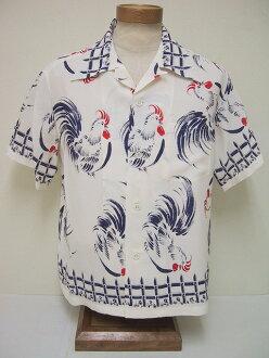 SUN SURF[산서후]화려한 셔츠 ROOSTER (WHITE)