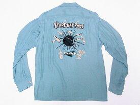 SUN SURF[サンサーフ] ボウリングシャツ SS27973 STARDUST BOWL 長袖 RAYON BOWLING SHIRT ボーリングシャツ by Masked Marvel (ミントグリーン) 送料無料 代引き手数料無料 【RCP】