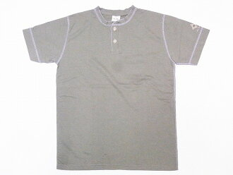 Two Moon [Two Moon] T-shirt henley neck T-shirt 24,223 henries Tee (olive)