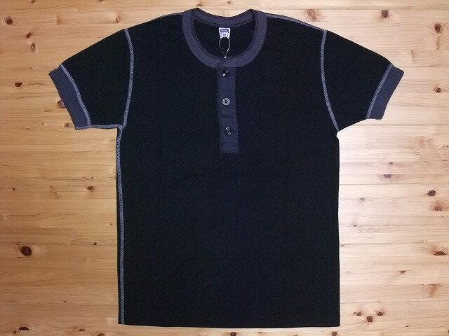 Pherrow's[フェローズ] Tシャツ ヘンリーネック PHT (ブラック)