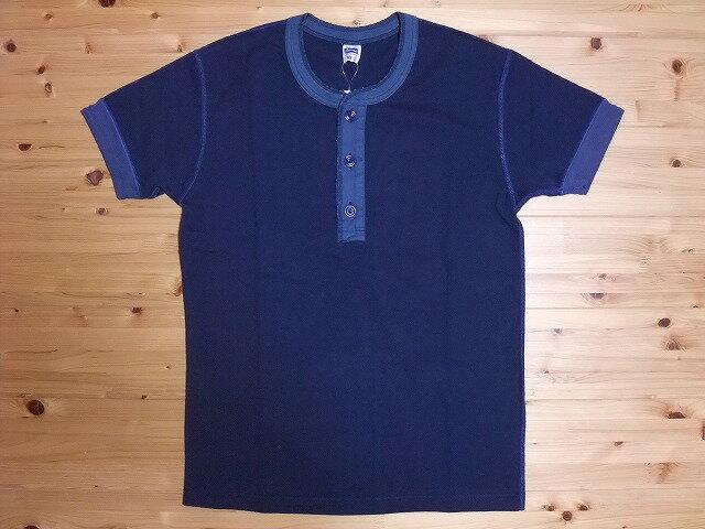 Pherrow's[フェローズ] Tシャツ ヘンリーネック PHT (ネイビー)