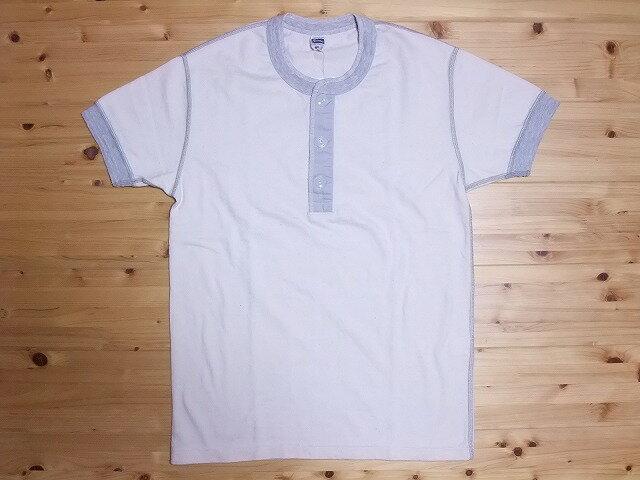 Pherrow's[フェローズ] Tシャツ ヘンリーネック PHT (オートミール)