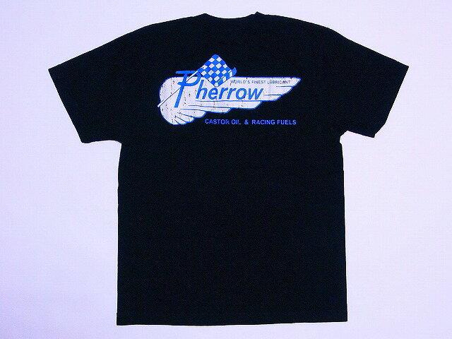 Pherrow's[フェローズ] ポケットTシャツ Pherrow WORLD'S FINEST LUBRICANT 12S-PPT1 (BLACK)