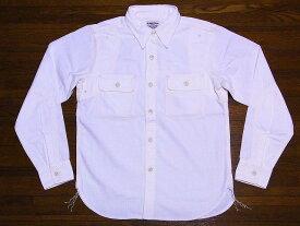 Pherrow's[フェローズ] シャンブレーシャツ 770WS シャンブレー ワークシャツ (ホワイト) 送料無料 代引き手数料無料 【RCP】