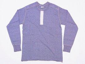Pherrow's[フェローズ] ロンT PCT2 無地 ヘンリーネック フライス ロングスリーブTシャツ (A.グレー)