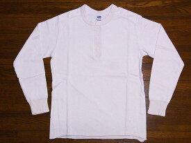 Pherrow's[フェローズ] ロンT PCT2 無地 ヘンリーネック フライス ロングスリーブTシャツ (オートミール)