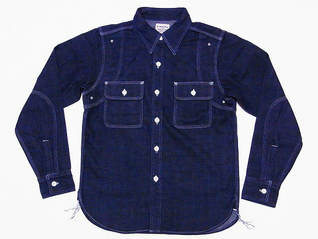 Pherrow's[フェローズ] ワークシャツ 10oz. デニム 770WS (ブルーデニム) 送料無料 代引き手数料無料 【RCP】