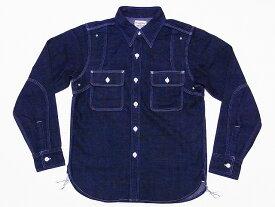 Pherrow's[フェローズ] ワークシャツ 10oz. デニム 770WS デニムワークシャツ (ブルーデニム) 送料無料 代引き手数料無料 【RCP】