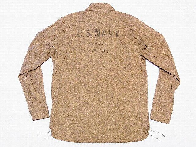Pherrow's[フェローズ] ワークシャツ 15W-780WS-VP131 長袖 度詰ミリタリースラブツイル VP131 (ベージュ) 送料無料 代引き手数料無料 【RCP】