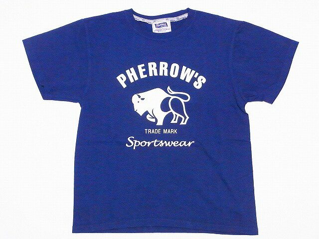 Pherrow's[フェローズ] Tシャツ 17S 18S-PT2 PHERROW'S Sportswear (S.ネイビー)