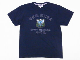 Pherrow's[フェローズ] Tシャツ 16S-PT9 SEA BEES (S.ブラック)