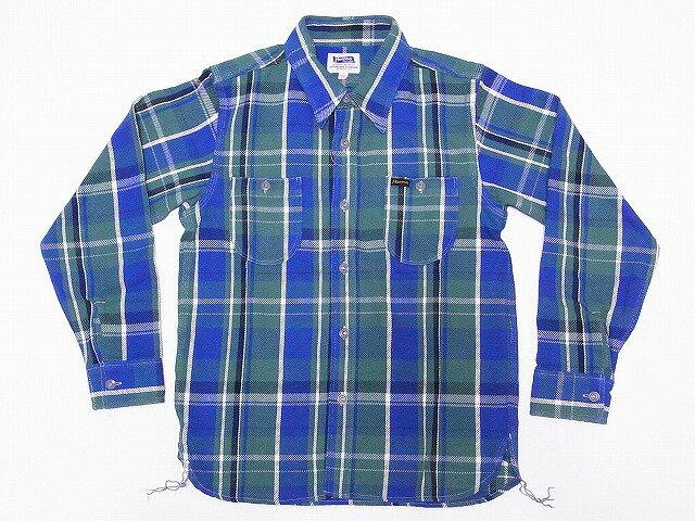 Pherrow's[フェローズ] ネルシャツ 16W-720WS ヘビーフランネル チェック (グリーン) 送料無料 代引き手数料無料 【RCP】